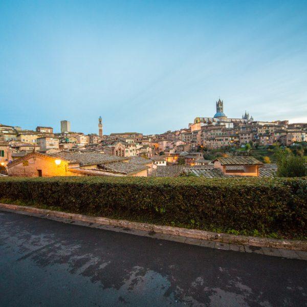 Veduta dalla Pizzeria Il Pomodorino a Siena